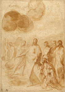 Andrea Sacchi, 'Christ's Command to St. Peter, Feed My Sheep! (Pasce Oves Mea)', 1628