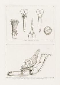 Juste-Aurèle Meissonnier, 'Design of Scissors and Cane Knob', 1748