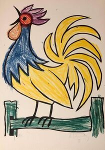 Bob Stanley, 'Rooster Pop Art Triptych Lithograph Suite Hand Signed', 1970-1979