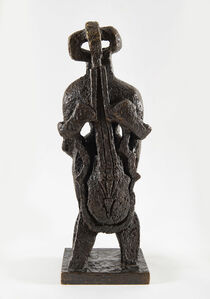 Ossip Zadkine, 'Le singulier personnage ou La femme à la viole ou Figure debout ou Le Violoncelliste', 1958