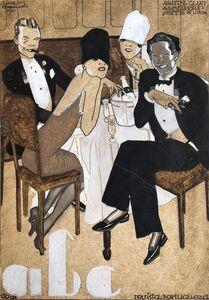 Jorge Barradas, 'As melhores noites de Lisboa', 1927