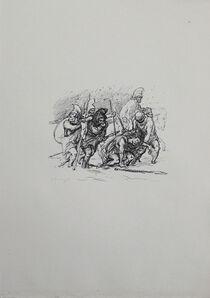 Max Slevogt, 'Der schwierige Marsch durch den Schnee', 1921