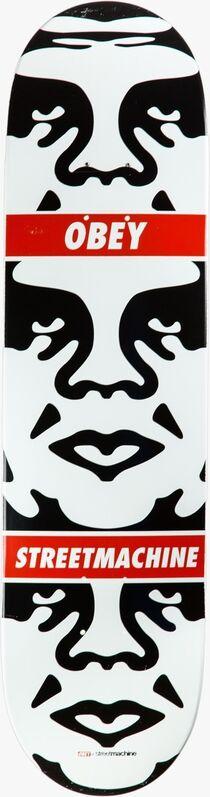 Shepard Fairey, 'ANDRE 3 FACE, OBEY 25 YEARS SKATEBOARD DECK', 2011, Print, Screenprint on skateboard deck, EHC Fine Art