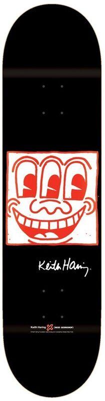 Keith Haring, 'TV Face ', 2013, Print, Screenprint on wood, EHC Fine Art