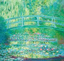 Claude Monet, 'The Waterlily Pond with Japanese Bridge, 1899', 21st century
