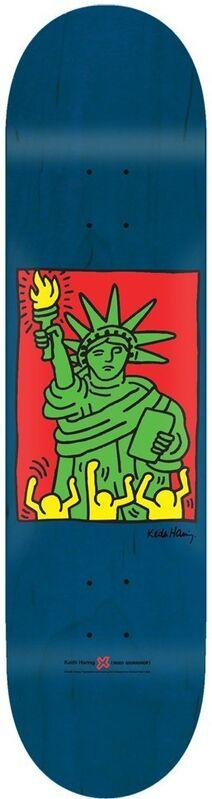 Keith Haring, 'Liberty', 2013, Print, Screenprint on wood, EHC Fine Art