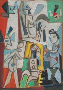 Miguel Ángel Pareja, 'Composición con figuras 2', 1951