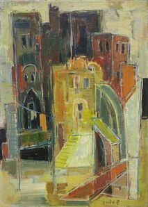 Claire Szilard, 'Rome (Milan) Italian Cityscape by Noted Hungarian Israeli Artist', 20th Century