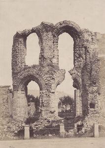 """Jean-Louis-Henri Le Secq, 'Ruines a Tréves, (Kaiserthermen or """"Emperor's Baths)', 1851/1851c"""