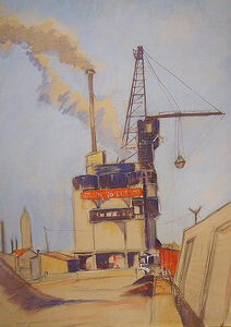 Niles Spencer, 'The Cement Plant', ca. 1935