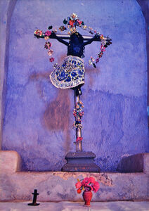 Ellen Auerbach & Eliot Porter, 'Crucifix with Dark Christ, Former Franciscan mission church of Muna, Yucatan', 1965