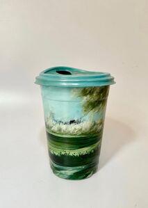 "Armando de la Garza, '""2.2"" from Series ""Biotá"" Oil on a Plastic Cup', 2019"
