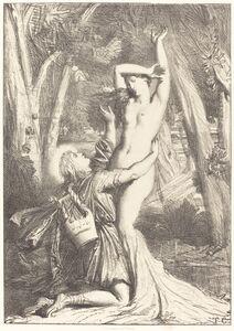 Théodore Chassériau, 'Apollon et Daphne', 1844