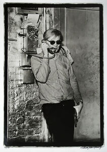 William John Kennedy, 'Andy Warhol talking on the phone in his studio', 1964