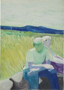 Paul Wonner, 'Two Figures in a Landscape', 1958