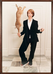 Sam Taylor-Johnson, 'Self Portrait in a Single Breasted Suit with Hare', 2001