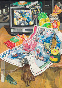 Janet Fish, 'Football', 1986