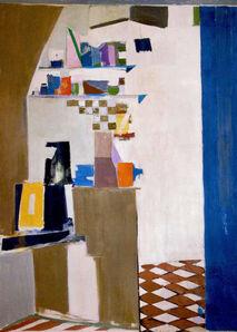 Janice Biala, 'Blue Kitchen', 1969