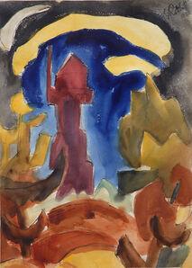 Karl Schmidt-Rottluff, 'Leuchtturm (Lighthouse) ', 1922