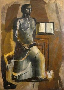 Mario Sironi, 'Figura femminile con libro e moschetto', 1936-38
