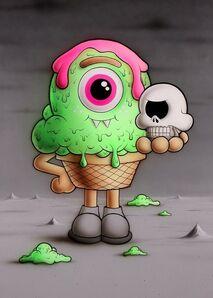 Buff Monster, 'Poor Yorick', 2016