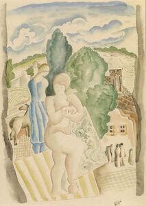 Bela Kadar, 'Jeune femme à l'entrée du village', 1877-1955