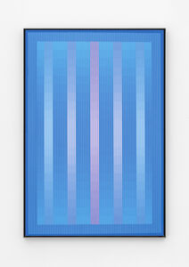 Julian Stanczak, 'Blue Crystal', 1985