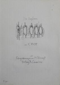 """Max Slevogt, 'Titel """"Die Tapferen Zehntausend""""', 1921"""