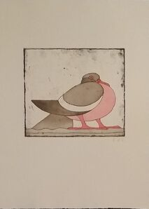 Claude & François-Xavier Lalanne, 'The pigeon - Original signed print', 2004