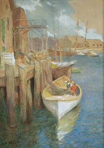 Edward Henry Potthast, 'Hauling Nets, Gloucester', ca. 1895-1910