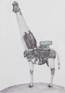Chen Xi 陈熹, 'Giraffe on the moon', 2014