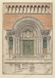 Charles Frederick William Mielatz, 'The Door, St. Bartholomew's', 1909