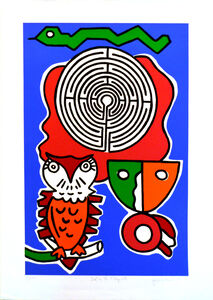 Walter Gaudnek, 'Owl in the Labyrinth, 33/120', 1986