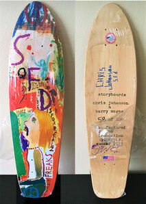 """Barry McGee, '""""And Your Friends Are My Friends"""", SIGNED by BOTH ARTISTS, Wood Skate Deck Edition', 2012"""