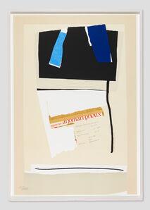 Robert Motherwell, 'America--La France Variations VI ', 1984