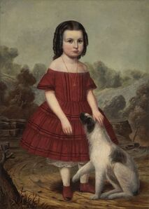 John Jacob Hegler, 'Portrait of Alice Lyons', ca. 1855