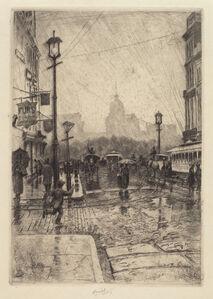 Charles Frederick William Mielatz, 'Rainy Day, Broadway', probably 1890