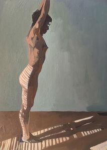 Ingrid Capozzoli Flinn, 'Nude Standing in Striped Light', 2016
