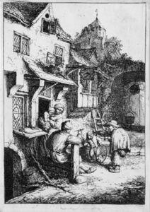 Adriaen van Ostade, 'The Hunchbacked Fiddler (3rd State)', 1654