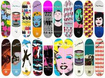 Collection of 20 skateboard decks