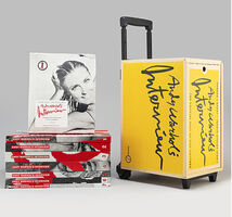 Andy Warhol, 'Andy Warhol´s Interview Box - 7 Pop´s Crystall Ball 35 Years, in wooden suitcase designed by Karl Lagerfeld', 2004