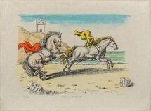 Cavalli in riva all'Egeo