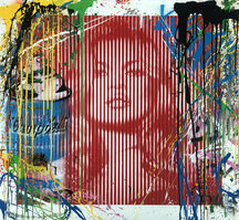 Mr. Brainwash, 'Fame Moss Red/ Kate Moss (HPM)', 2015