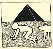 Keith Haring, 'The blue print drawing #17', 1990