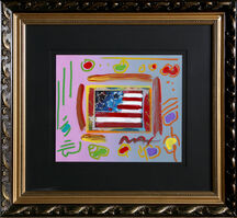 Peter Max, 'Flag with Heart', 1999