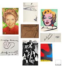 "SET of 8- ""Andy WARHOL, 1950-1980's, SIGNED Ephemera Items UNIQUE."
