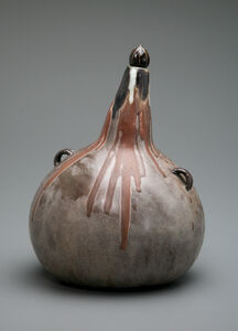 Taxile Doat, 'Volcanic Gourd', ca. 1900