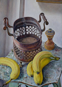 Michael Taylor (b. 1952), 'Copper Basket with Fruit', 2019