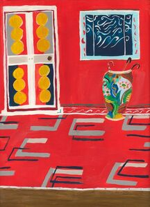 Polly Shindler, 'Red Room with Umbrella Stand ', 2020