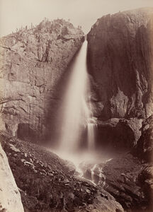 Carleton E. Watkins, 'Upper Yosemite Falls, View from Eagle Point Trail, Yosemite', 1878-81